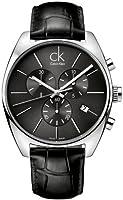 Reloj Calvin Klein K2F27107 de caballero de cuarzo con correa de piel negra de Calvin Klein