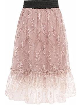 QPSSP-Net hilo negro de alta costura en la cintura y una falda falda Mujer Torso