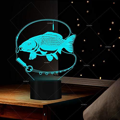 IYOUNG 3D Nachtlicht New Brocade Karpfen Nachtlichter 7 Wechselnden Farben Geschenk Für Liebhaber -