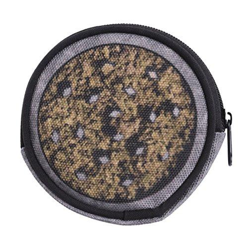 Kitty Hello Marihuana-zubehör (Geldbeutel Runde Geldbörse mit Reißverschluss Taschenorganizer Münzbörse Grinder Weed [041])