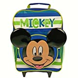 Disney Mickey Mouse 3D Ears - Childs Cabin Wheel Bag Trolley Suitcase Luggage