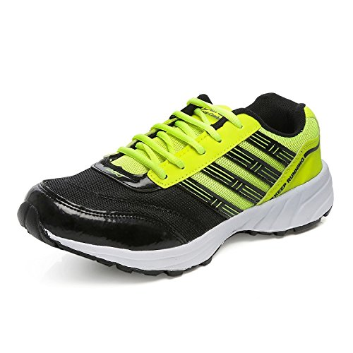 Combit Black and Green Sports Runing Shoes for Men