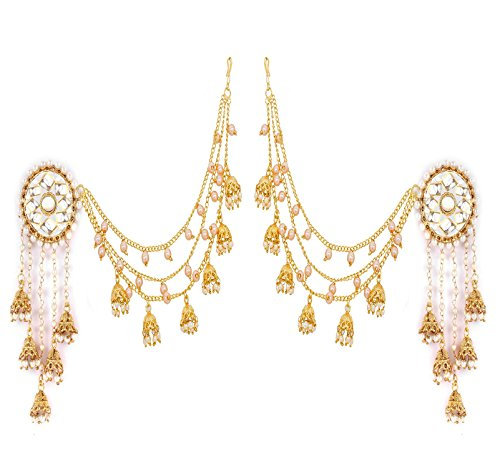 YouBella Jewellery Traditional Stylish Gold Plated Pearl Fancy Party Wear Jhumka /...