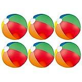 eBuyGB 1316099–6aufblasbare Beach Ball Spiel, Mehrfarbig, 9Zoll