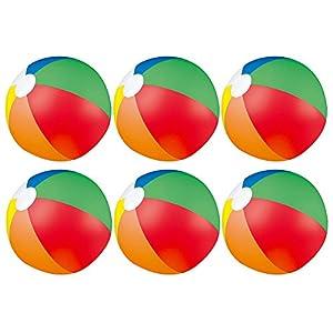 eBuyGB - Juego de 6 Bolas hinchables para Playa, Color Azul, 22 cm