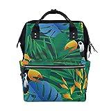 Rucksack Tropische Brasilien Palmenblätter Toucan Große Kapazität Reise Tagesrucksack