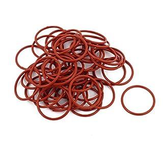 sourcingmap® 50Stk Rot 25mm x 1,5mm Hitzebeständigkeit NBR Gummi O Ring Dichtungsring