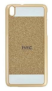 ARNAV HTC 620- Shiny Crystal Bling Glitter Thin Hard Back Case - Gold
