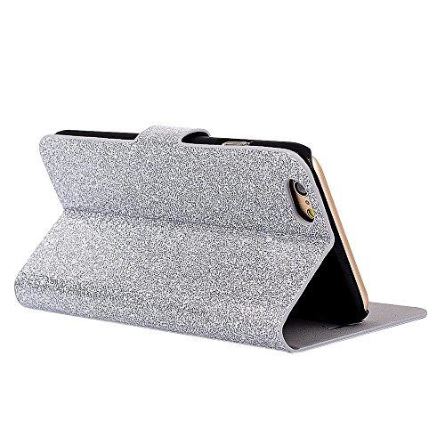 PU Cuir Case iPhone 6S 6 Mandala Fleurs Rétro Style Coque, Sunroyal Premium Embossed PU Leather Soft TPU Inner Housse Absorption de Choc et Anti-Scratch Téléphone Coque de Protection + 1 x Bling anti- Argent