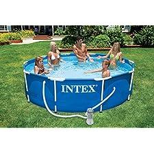 Intex 10ft Diameter x 30in Deep Metal Frame Pool (with pump) #28202