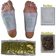10 x Vita Patchy® PARA LAS PRUEBAS! parches para los pies Vitalpflaster Gold con turmalina de alto valor Parche Apósito Purificante Detox