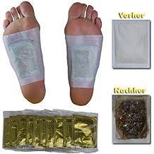 10 x Vita Patchy® Per le prove! cerotto per i piedi Vital Gold con alto contenuto di turmalina per la disintossicazione - Detox