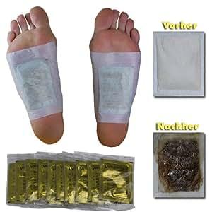 Vita Patchy Gold Pansement avec Tourmaline pour Pieds Purification Détox 10 Sparadraps