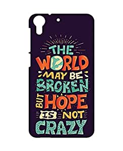 1on1 Selfie Back Cover for HTC Desire 728 (Multi-coloured)