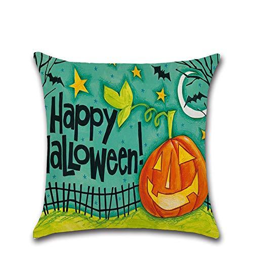 Halloween Deko Grusel Dekoration Set 45 * 45 cm Halloween Cartoon Kürbis Leinen Kissenbezug 201 1 Paket für Halloweendeko Make-up-Party Halloween Dekoration