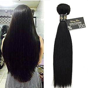 Sunny Tissage Cheveux Naturels Lisse Bresilienne Vierges Cheveux Humains Weaving Extensions 18 pouces/45cm 100gr/piece