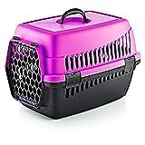 Transportbox für Haustiere | Tragebox für Hunde und Katzen (Fuchsia)