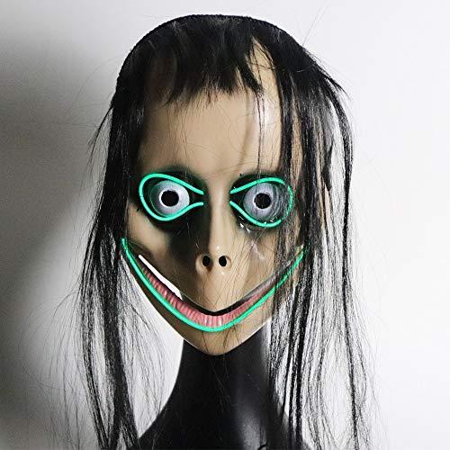 Tiamo Horror Grimasse Leuchtende Maske - Halloween Maske - Cosplay Kostüm Maske - Party Rave Maske - Erwachsene Und Kinder (Color : (Promi Kostüm Vampir)