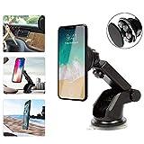Supporto auto magnetico per auto/supporto, attacco a ventosa al parabrezza/cruscotto, 360gradi di rotazione regolabile Magnet supporto da auto per iPhone, iPad, Android, Tablet, Navigatori Satellitari GPS