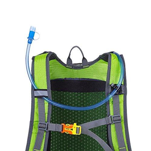 Mountain Bike Fahrrad Rucksack Daypack Ultra wasserdicht mit Helm NET kann holded Water Store Tasche für Radfahren Running Wandern Trekking Camping 7 Farben H46 x W26 x t23cm lake blue