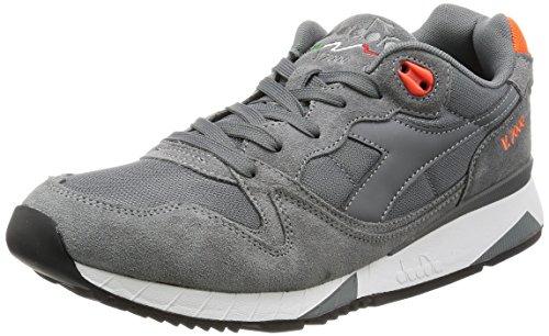 Scarpe Sneaker Uomo DIADORA Modello V4000 NYL II Steel Gray / Vermillion Orange GrigioAcciaioArancio