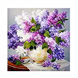 Vovotrade DIY 5D Diamant Malerei, Kristall Strass Diamant Stickerei Gemälde Bilder Kunsthandwerk für Hauptwanddekor Blume, Schmetterling,44 * 37cm