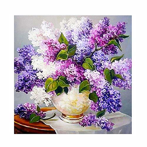 Vovotrade DIY 5D Diamant Malerei, Kristall Strass Diamant Stickerei Gemälde Bilder Kunsthandwerk für Hauptwanddekor Blume, Schmetterling,44 * 37cm (Essbare Diamant-ring)