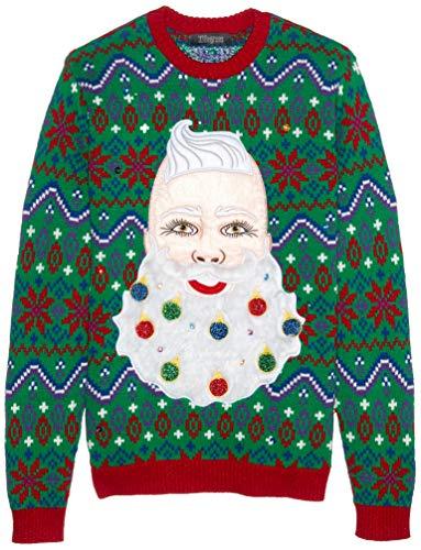 Blizzard Bay Herren Pullover, Santa Beard Ornaments, Groß