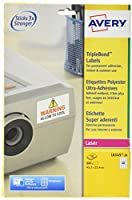 Avery L6145-20 Extra-Strong Adhesive NoPeel Permanent Labels, 40 Labels Per A4 Sheet