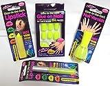 Spiel-4leuchtet im Dunkeln Neon Nail Polish glänzend Lip Lippenstift Nägel–Gelb