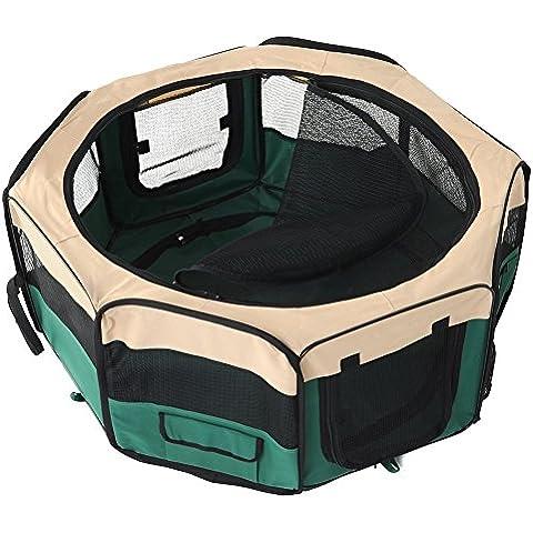 EchoAcc® Portatile Tenda Box, per Cane / Gatto / Coniglio e altri Piccoli Animali (Verde)