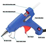 #3: Glun 20 Watt Mini Hot Melt Glue Gun For Fine Craft Work (7 MM Diameter) (Blue Gun With 25 Glue Sticks)