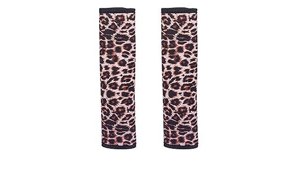 Leopard MUZI 2 Packs Seat Belt Shoulder Pads Leopard Cute and Handmade Boho Car Seat Belt Shoulder Pads Strap Covers for Adults