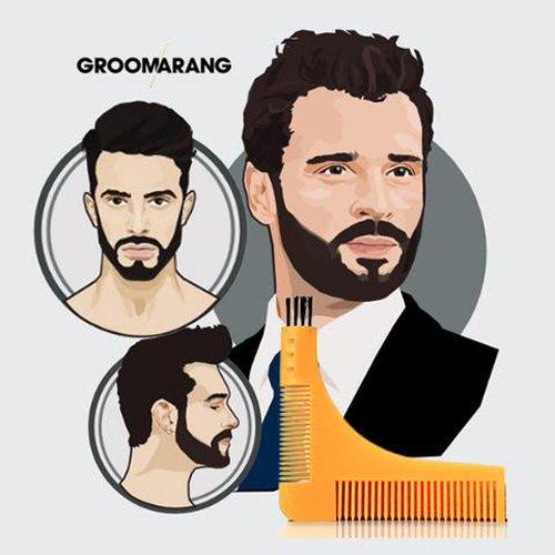 Groomarang - Herramienta para peinar y dar forma a la barba 8841090aca8