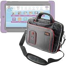 DURAGADGET Maletín Con Diseño Ergonómico Para Cefatronic - Tablet Clan Motion Pro - En Color Negro Y Rojo