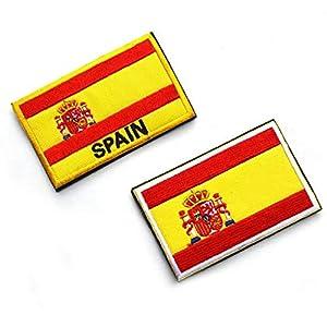 512pNEDuJhL. SS300  - España Español Bandera Gancho Bordado Táctico Placa De Sujeción De Bucle