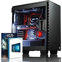 VIBOX Species-X GL780-770 Gaming PC - 4,5GHz Intel i7 Quad Core CPU, GTX 1080 GPU, Extremo, Ordenador de sobremesa Gaming con enfriador por agua vale de juego, con unidad central, Windows10 (4,2GHz (4,5GHz Turbo) SuperrápidoInteli77700KQuad 4-CoreCPUprocesador de Kabylake, Nvidia GeForce GTX 1080 8GBGPUde laTarjeta gráfica de altorendimiento, 16 GB 3000MHz DDR4 RAM, Unidad de estadosàlidoSSD de 480GB, Discoduro1TB, CorsairGTXH100ilíquidorefrigeradorde laCPU)