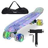 Yorbay (Upgrade Version) 22' Skateboard monopatín Retro con la Bolsa y T-Herramientas