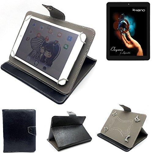 K-S-Trade Schutz Hülle Tablet Case für Kiano Elegance 8 3G, schwarz. Tablet Hülle mit Standfunktion Ultra Slim Bookstyle Tasche Kunstleder