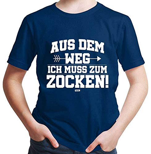 HARIZ  Jungen T-Shirt Aus Dem Weg Zocken Gamer Gaming Plus Geschenkkarte Navy Blau 164/14-15 Jahre (Zu Weihnachten Jahr Alt, 8 Geschenke)
