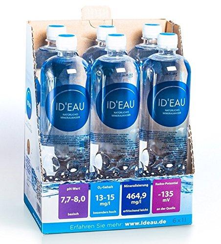 Mineralwasser ID'EAU regenerierendes stilles Wasser 1L XXL-Pack (24 x 1L)
