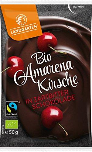 Landgarten Amarenakirschen in Zartbitterschokolade (50 g) - Bio