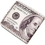 LHWY Hombres Dólares de Cuero Billeteras 100$ Moneda Titular