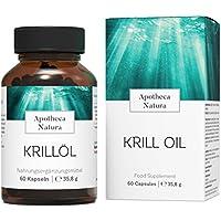 Apotheca Natura Krillöl, Omega 3 Kapseln aus der Antarktis, Nachhaltig gefangen, MSC zerfiziert, Ohne Gelatine