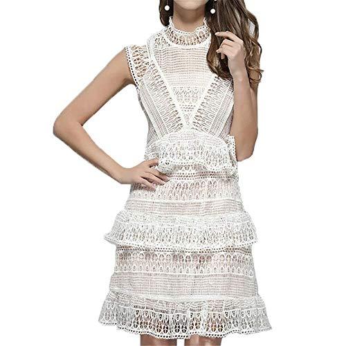 Sr7ew9 Dama de honor vestido de verano damas vestido de encaje sin...