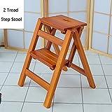 2 Stufenhocker Leiter für Erwachsene & Kinder Holz Kleine Fußhocker Einfache Klapptisch Indoor Tragbare Schuhbank/Blumenregal Haltbar (Farbe : Kaffee - Farbe)