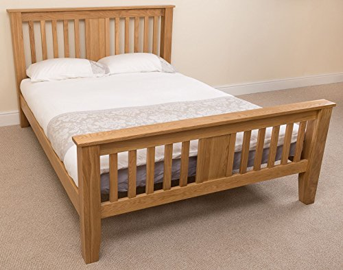 Boston 5ft Solid Oak King-size Bed Frame (220 x 164 x 110 cm) Bedroom Furniture