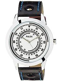 Pulse Analog White Dial Men's Watch - PL0601