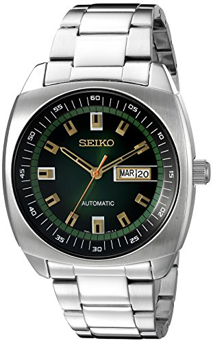 seiko-mens-snkm97-analog-green-dial-automatic-silver-stainless-steel-watch