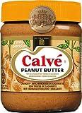 6x Calvé - Erdnuss-Butter Crunchy, mit Erdnuss-Stückchen - 350g